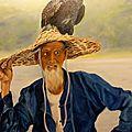 Cormoran sur un chapeau perché H/T 60x50