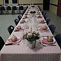 Thème bistro girly : la décoration de la salle et des tables