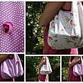 sac oiseau rose