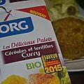 J'ai testé pour vous.. les palets céréales et lentilles curry bio {nouveauté bjorg}