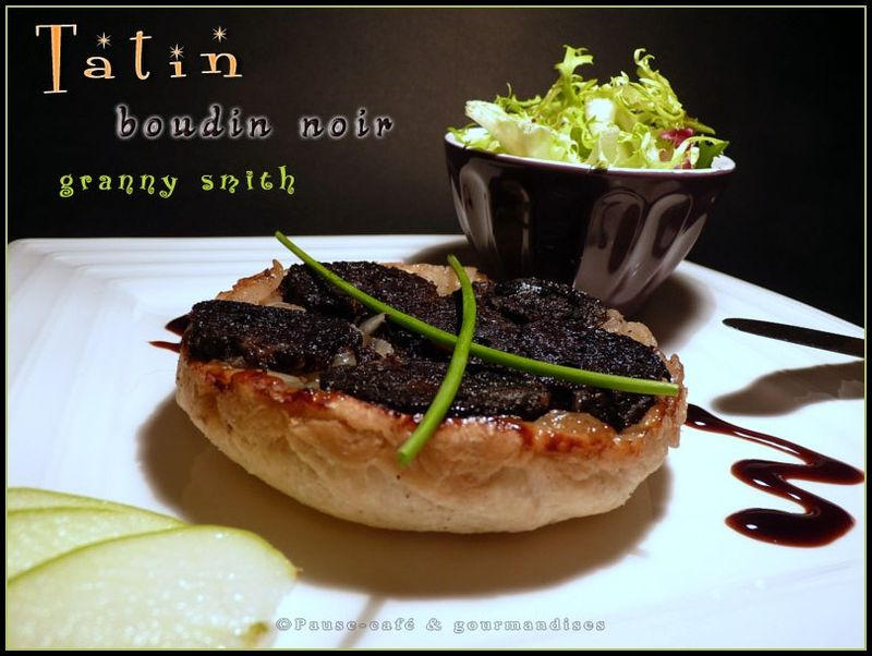 tatin de boudin noir aux oignons et pomme granny smith pause gourmandises. Black Bedroom Furniture Sets. Home Design Ideas