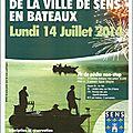 Open carnassier de la ville de sens en barque le lundi 14 juillet 2014 - troc pêche auxerre le dimanche 22 juin 2014 !!!