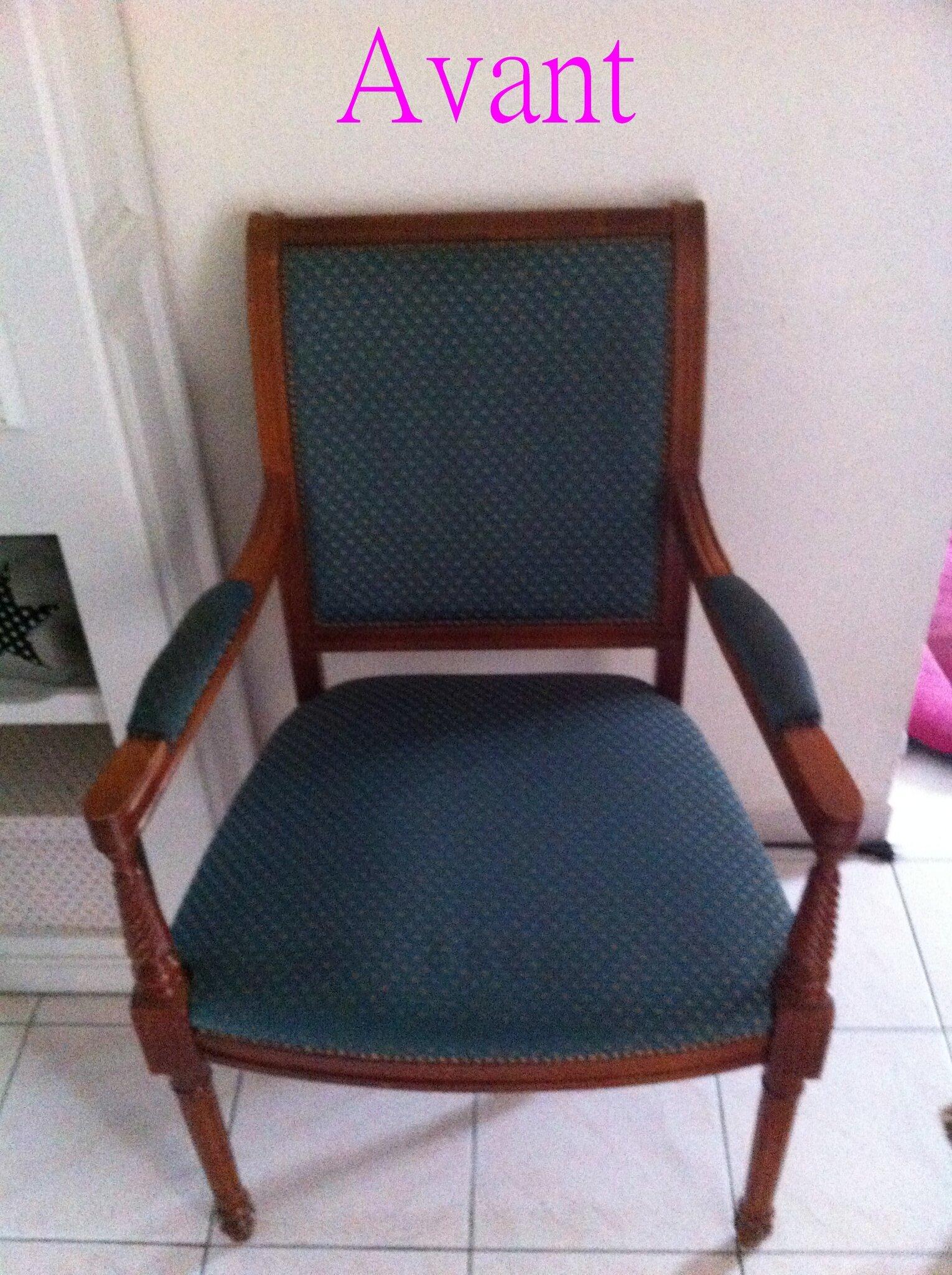 le relooking d 39 un fauteuil vert cabane n 7. Black Bedroom Furniture Sets. Home Design Ideas