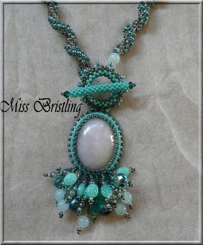 Ryolite-fimo necklace