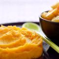 Purée et soupe de patates douces au panais