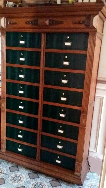 Cartonnier ou meuble de notaire talie cartonne for Frais de notaire meuble