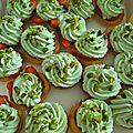 mini tartelettes fraises/crème mascarpone à la pistache