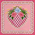 coeur avec fleurs, d'après un modèle du livre -créations charmantes d'Anneke ( déc 2011)
