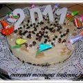 Entremet poires/meringue italienne/chocolat