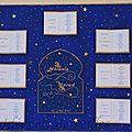 Plan de table contes des 1001 nuits