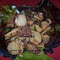 Salade de pommes de terre et restes de boeuf