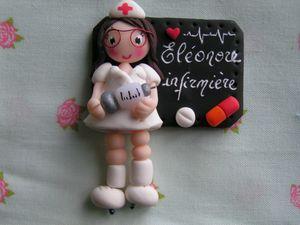 badge infirmière lunette