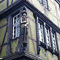 Personnage sculpté à Colmar