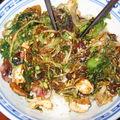 Poêlée verte et riz