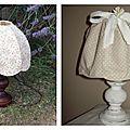 Relookage d'une petite lampe