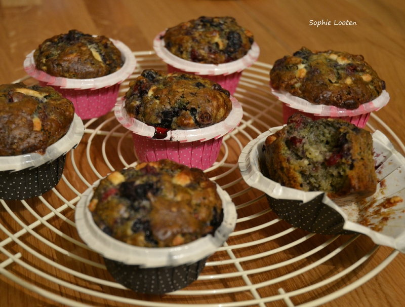 Muffins choc blanc matcha fruits rouges2