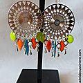 BO Aztèque (turquoise, orange, granny) - 37 €