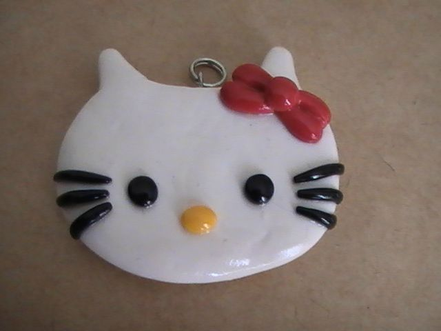 Hello kitty photo de personnages et animaux cr ations - Personnage en pate fimo ...