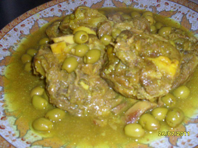 Collier d 39 agneau aux olives vertes et citron confit - Cuisiner du collier d agneau ...