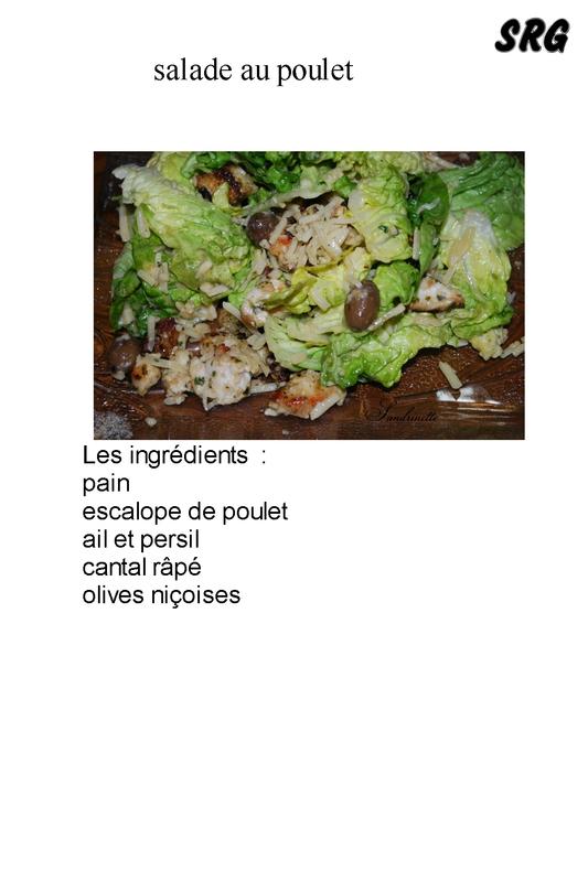 salade au poulet (page 1)