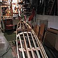 Le kayak de peau sur une ossature bois