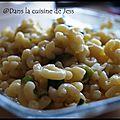 Risotto de coquillettes à la courgette et à la cancoillote (mijoteuse philips)
