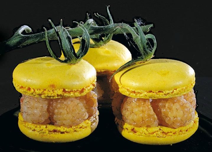 L'histoire des macarons et des framboises