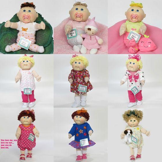 poupées blondes et bébés