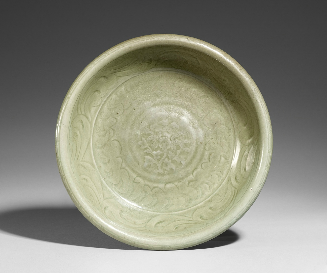 A Longquan celadon charger. Ming Dynasty, 14th century