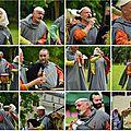 La troupe les goliards en visite au château de brézé pour les médiévales
