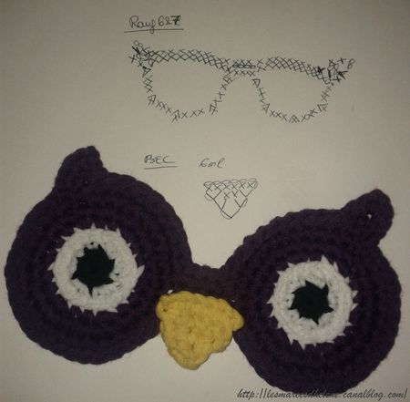 Hibou crochet masque serial crocheteuse