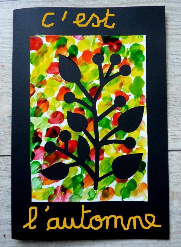 176_Arbres Automne_Trois petits arbres (carte automne)