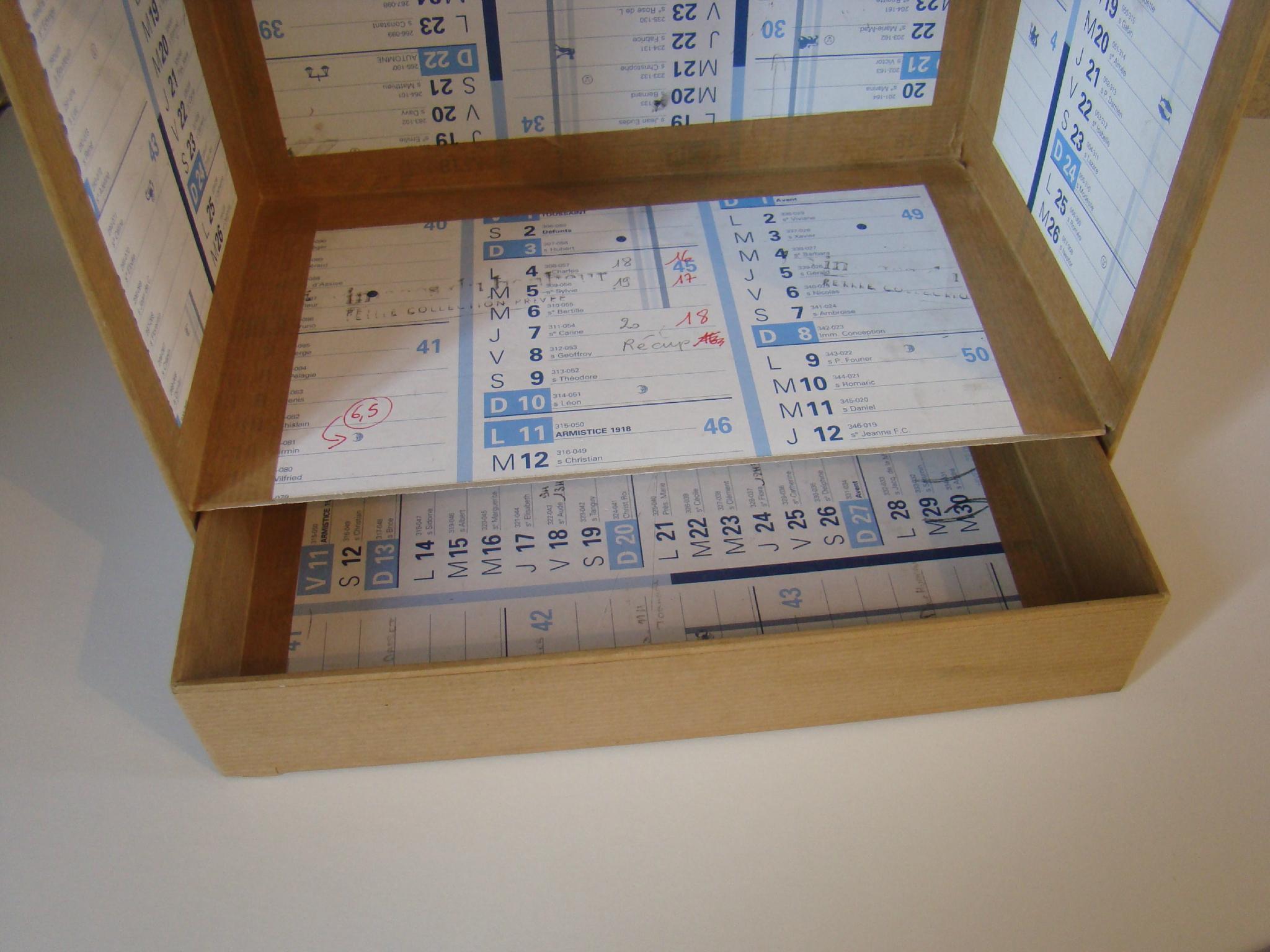 Anniversaire du blog boite de rangement pour encres et feutres par sylvie85 espace cr atif vc - Modele de boite en cartonnage ...