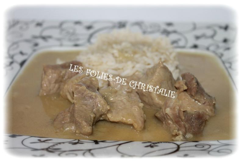 Sauté de porc au curry vert 5