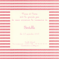 FP rayures horizontales rose et blanc cassé Bertille