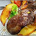Salade de foies de volailles aux pommes