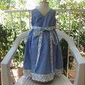 Robe chasuble bleue IM1141 - dos croisé