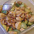 Recette chinoise: poulet aux noix de cajou sauce kung po