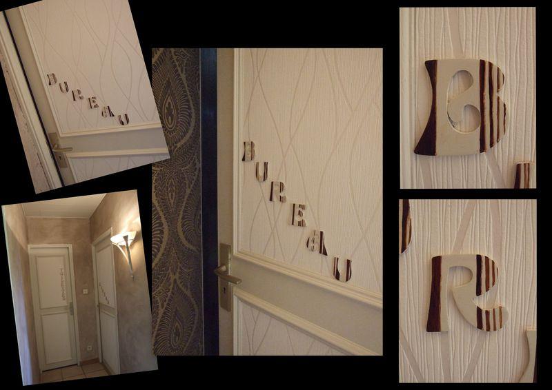 nouvelle d co dans mon couloir le blog orang de sylvie. Black Bedroom Furniture Sets. Home Design Ideas