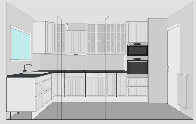 Interesting cuisineplan with cuisine 8m2 for Cuisine 8m2 prix