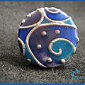 Bague cloisonée bleu&violet