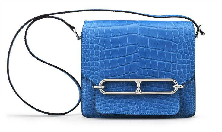 A Matte Mykonos Alligator Sac Roulis Bag, Hermès, 2012