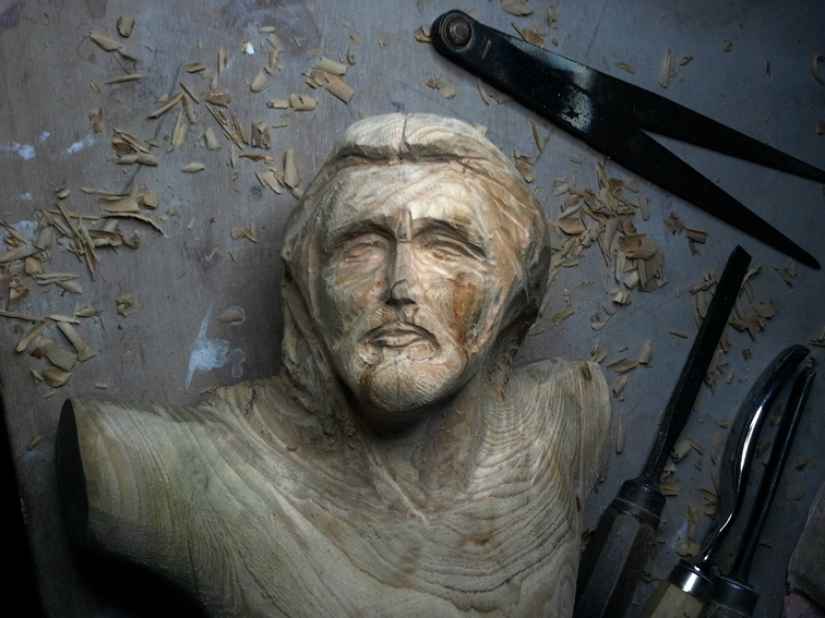 Fu sculptor - Christ wood cedar