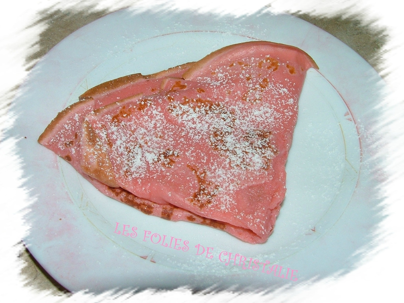 Crêpes aux biscuits roses 9
