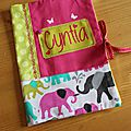 Housse carnet de santé Cyntia