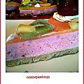 Bavarois fraise mangue