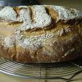 Ma miche de pain du jour (au passage entre 2 recettes)