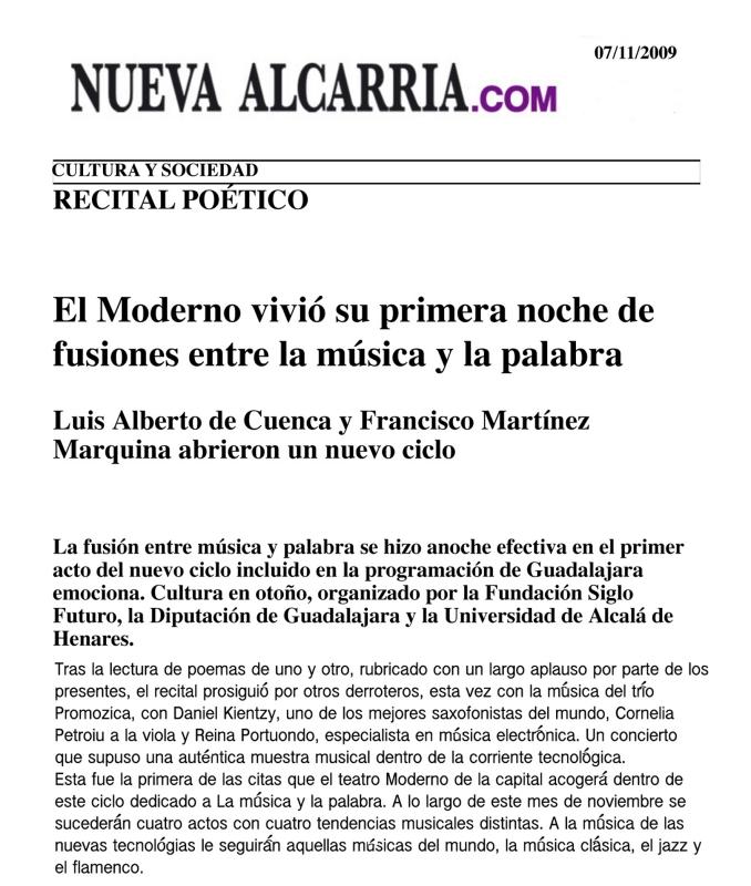 Nueva Alcarria Guadalajara 07/11/09