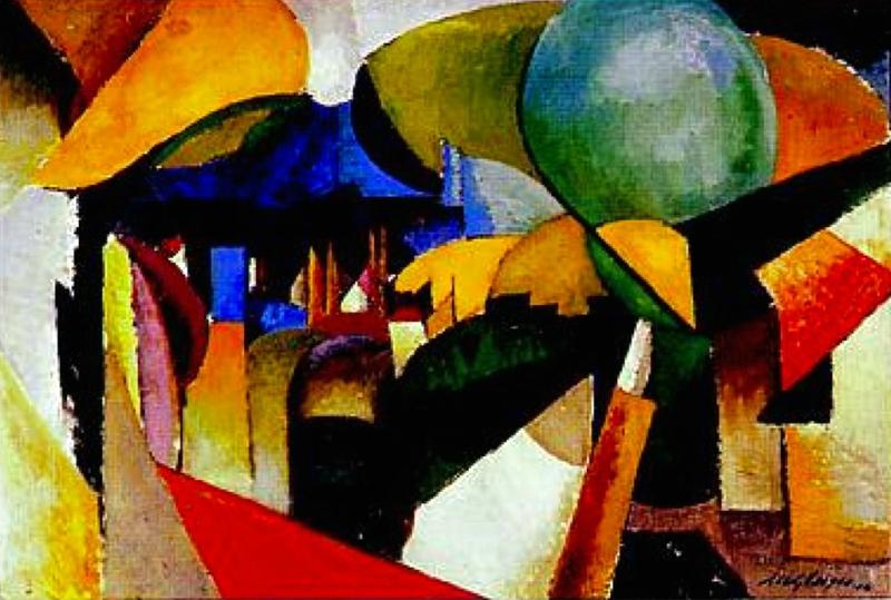 Albert Gleizes Paysage près de Montreuil 1914