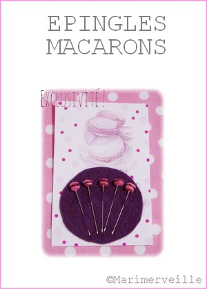 Epingles marimerveille macarons